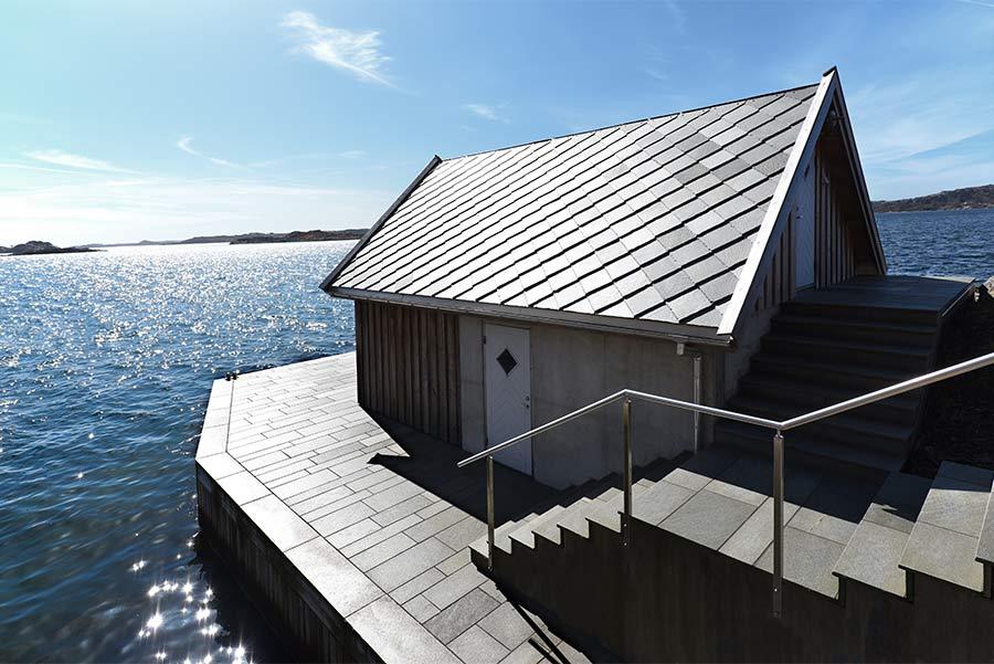 Hyttedrømmen - skifer Flis Oppdal mørk 20-30 mm - Systemblokk