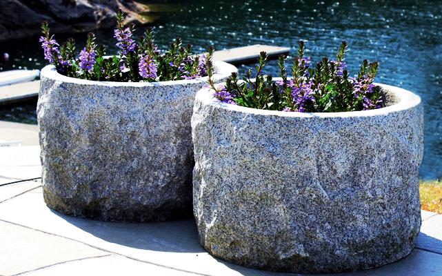 Granitt Blomsterurne Systemblokk