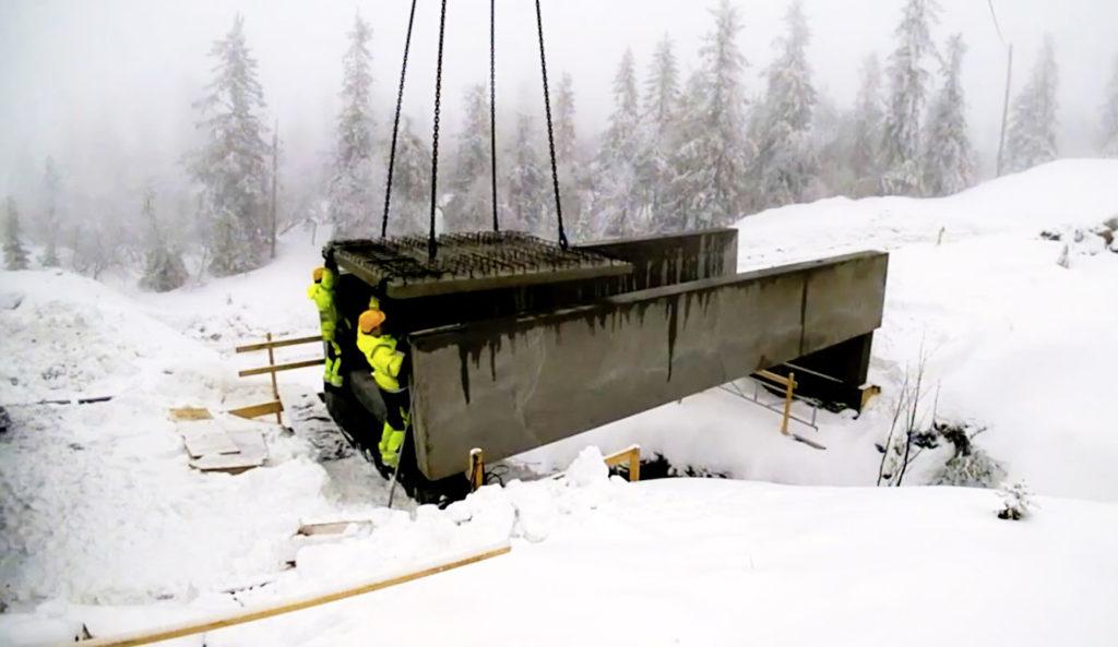 Montering av bro på Lifjell, Systemblokk